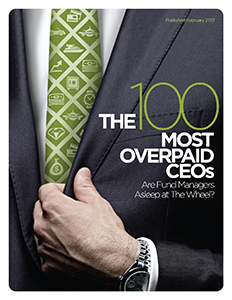 The 100 Most Overpaid CEOs: Are Fund Managers Asleep at the Wheel?