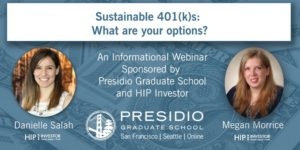 Webinar: Sustainable 401(k)s: What are your options?