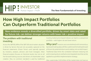 How High Impact Portfolios Can Outperform Traditional Portfolios Cover Page